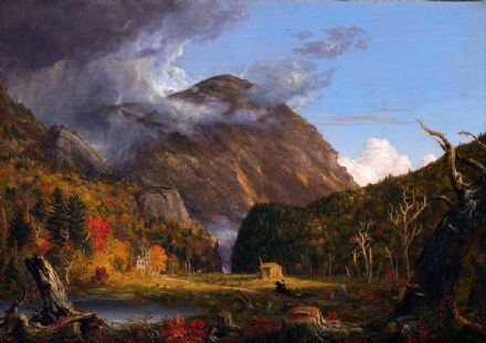 Cole, Thomas: Crawford Notch. (A View of the Mountain Pass). Landscape Fine Art Print.  (00786)